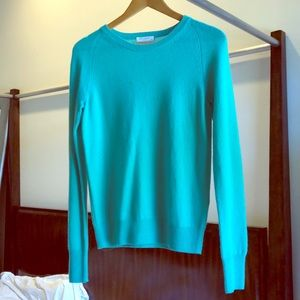 Equipment sea green sweater